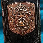 "Канцелярские товары handmade. Livemaster - original item Leather notebook ""LOGO"". Handmade."