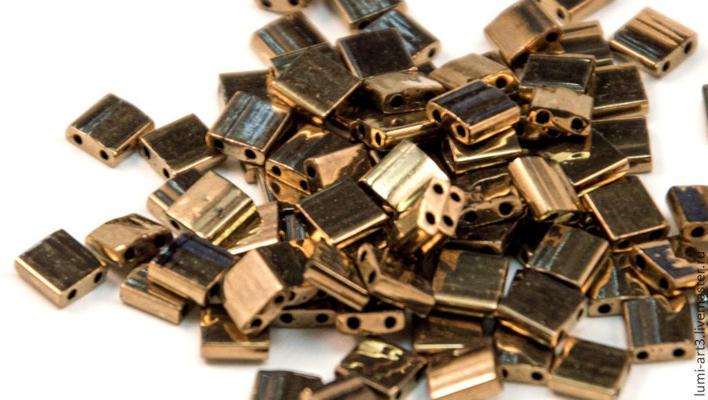 Tila 457 Dark Bronze Японский бисер Тила фирмы Миюки 5гр, Бисер, Краснодар,  Фото №1