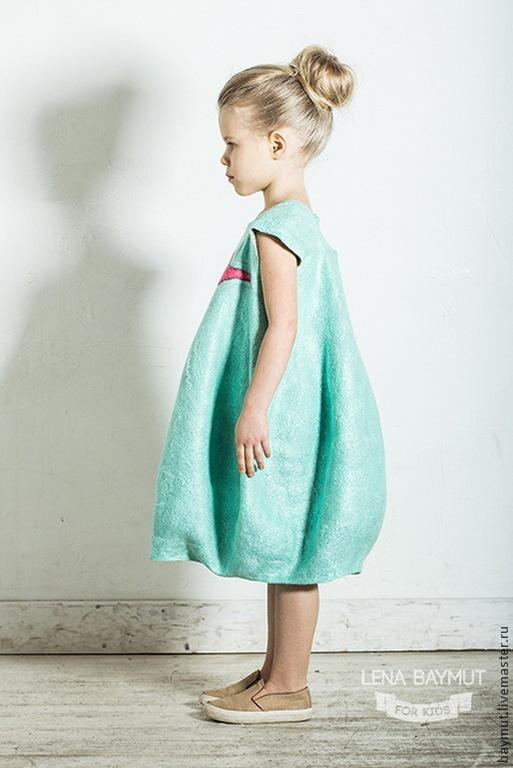 """Одежда для девочек, ручной работы. Ярмарка Мастеров - ручная работа. Купить Мятное-платье баллон """"Чик-Чирик"""". Handmade. Мятный"""