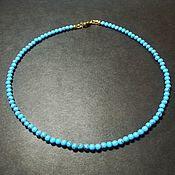 Работы для детей, handmade. Livemaster - original item Blue turquoise beads