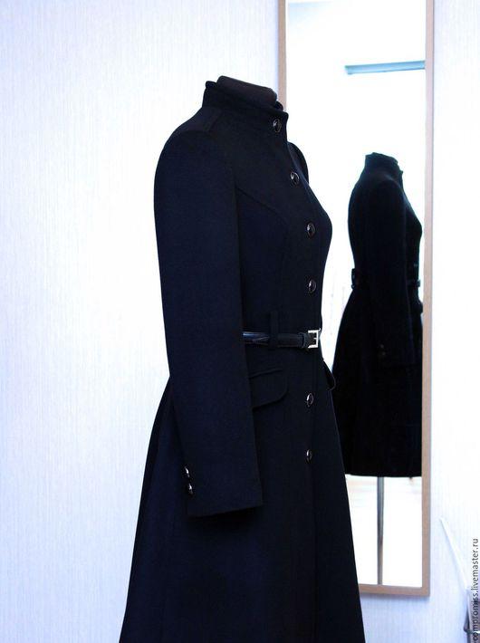 Верхняя одежда ручной работы. Ярмарка Мастеров - ручная работа. Купить пальто в стиле милитари. Handmade. Черный, демисезонная