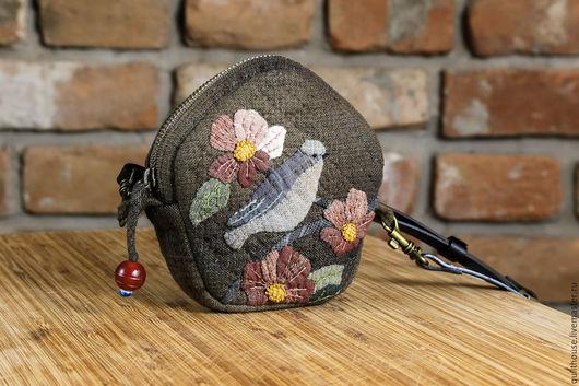 """Шитье ручной работы. Ярмарка Мастеров - ручная работа. Купить Набор для шитья Кошелечек """"Птичка"""". Handmade. Комбинированный, набор тканей"""