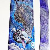 Аксессуары handmade. Livemaster - original item Tie men`s silk batik Aviator. Handmade.