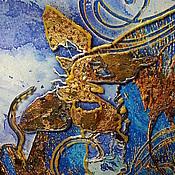 Подарки к праздникам ручной работы. Ярмарка Мастеров - ручная работа БОЛЬШАЯ ДЕКОРАТИВНАЯ ТАРЕЛКА ДЕКУПАЖ  БАБОЧКИ В ЗОЛОТОМ. Handmade.