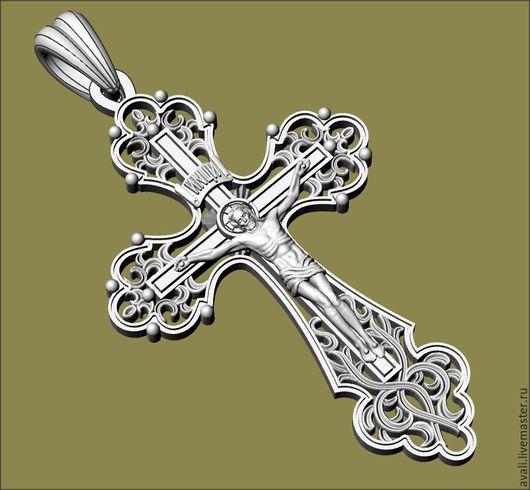 Крест православный. Изготовление под заказ. Материалы: золото, серебро, бронза. Вес и размер по желанию заказчика.