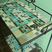 Для дома и интерьера handmade. Livemaster - original item Wrought iron console table with mosaic. Handmade.