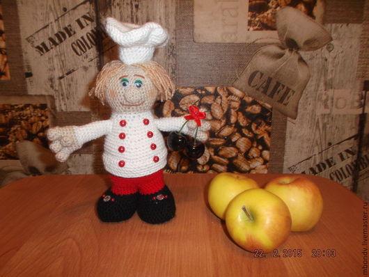 Человечки ручной работы. Ярмарка Мастеров - ручная работа. Купить поваренок. Handmade. Белый, повар, оберег, подарок для кухни
