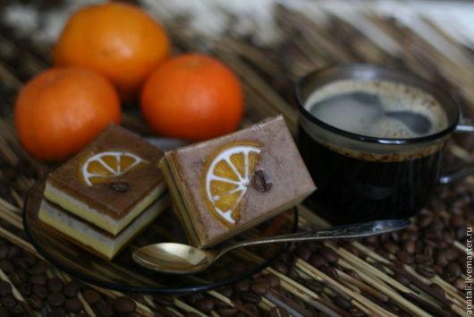 Мыло `Кофейное пироженое с апельсином`