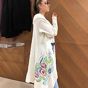 Одежда handmade. Livemaster - original item Knitted cardigan with embroidery. Handmade.