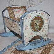 """Для дома и интерьера ручной работы. Ярмарка Мастеров - ручная работа Кроватка для куклы """"Мишкины сны"""". Handmade."""