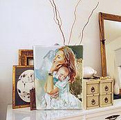 Картины и панно handmade. Livemaster - original item My warm - the picture of motherhood. Handmade.