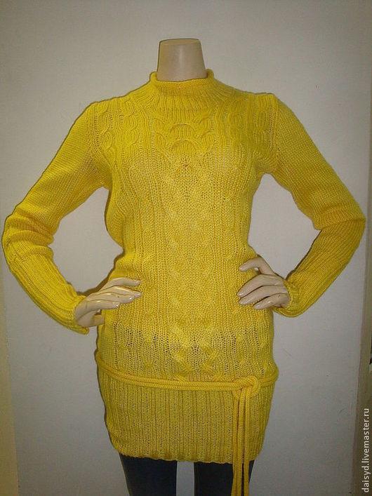 Кофты и свитера ручной работы. Ярмарка Мастеров - ручная работа. Купить Свитер женский, желтый. Handmade. Желтый, мягкий, теплый