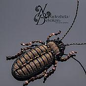 Украшения handmade. Livemaster - original item The Cockroach brooch, embroidery thread. Handmade.