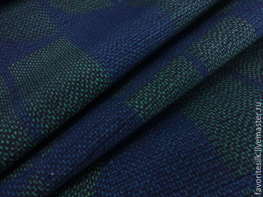 """Шитье ручной работы. Ярмарка Мастеров - ручная работа. Купить Японский шелк """"цумуги"""". Handmade. Японский шелк, сине-зеленый"""