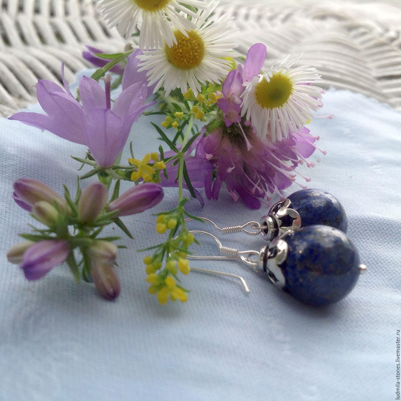 Silver earrings 'Journey in summer', Earrings, Moscow,  Фото №1