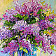 'Fragrance of Morning' - oil painting with a bouquet of lilac, Pictures, Voronezh,  Фото №1