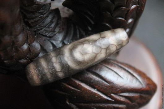 Для украшений ручной работы. Ярмарка Мастеров - ручная работа. Купить Родовая бусина дзи 2 глаза ,античная.. Handmade.