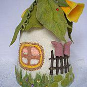 Для дома и интерьера ручной работы. Ярмарка Мастеров - ручная работа Интерьерный домик-грелка для чайника Домик лесного эльфа. Handmade.
