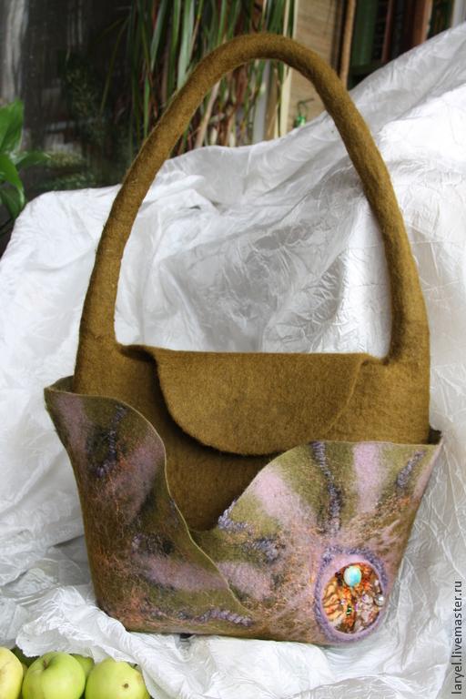 Женские сумки ручной работы. Ярмарка Мастеров - ручная работа. Купить Валяная сумка Осеннее солнце. Handmade. Яркая сумка