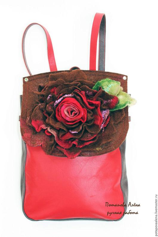 """Рюкзаки ручной работы. Ярмарка Мастеров - ручная работа. Купить Авторская сумка-рюкзак из коллекции """"Сны о цветах"""". Handmade. Комбинированный"""