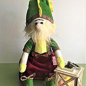 Куклы и игрушки handmade. Livemaster - original item A soft toy Gnome with a flashlight. Handmade.