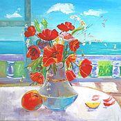 Картины и панно handmade. Livemaster - original item Oil on canvas Poppys painting. Handmade.