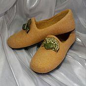 Обувь ручной работы. Ярмарка Мастеров - ручная работа Валяные тапочки Дворцовые. Handmade.