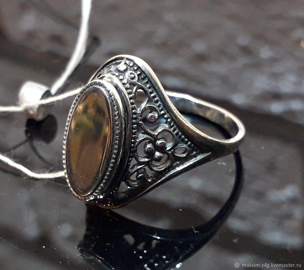 Винтаж: Винтажное кольцо из серебра ЗВЕЗДА 925.Сделано в СССР, Кольца винтажные, Санкт-Петербург,  Фото №1