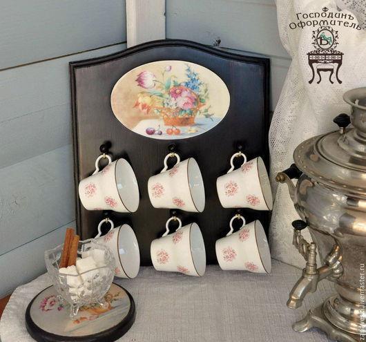 """Кухня ручной работы. Ярмарка Мастеров - ручная работа. Купить Подвес для чашек """"Летнее утро"""". Handmade. Подарок на любой случай"""