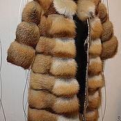 Одежда handmade. Livemaster - original item The coat of Fox poperechka. Handmade.