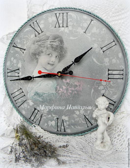 """Часы для дома ручной работы. Ярмарка Мастеров - ручная работа. Купить Винтаж.Часы """"Симфония Любви..."""". Handmade. Серый"""