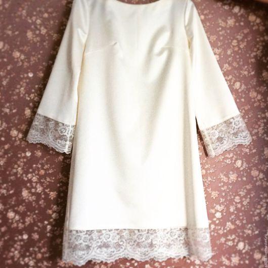 Платья ручной работы. Ярмарка Мастеров - ручная работа. Купить Платье Coco Chanel. Handmade. Бежевый, платье из атласа