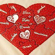 Сувениры и подарки ручной работы. Ярмарка Мастеров - ручная работа Сердце пазл 11 кусочков 40х30см. Handmade.