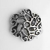 Материалы для творчества ручной работы. Ярмарка Мастеров - ручная работа Шапочки для бусин цветок 13 mm, Античное серебро Подходит для бусин 18. Handmade.