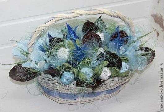 Букеты ручной работы. Ярмарка Мастеров - ручная работа. Купить Букет из конфет. Handmade. Голубой, тюльпаны, флористические материалы, ленты