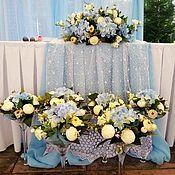 Свадебный салон ручной работы. Ярмарка Мастеров - ручная работа Набор композиций из синих гортензий (искусственные). Handmade.