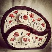 """Для дома и интерьера ручной работы. Ярмарка Мастеров - ручная работа Шкатулка """"Маки"""". Handmade."""