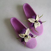 Обувь ручной работы. Ярмарка Мастеров - ручная работа Тапочки Орхидея 2. Handmade.