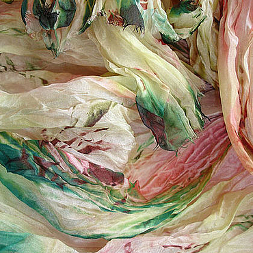 """Аксессуары ручной работы. Ярмарка Мастеров - ручная работа Шелковый шарф """" Травы Прованса"""". Handmade."""