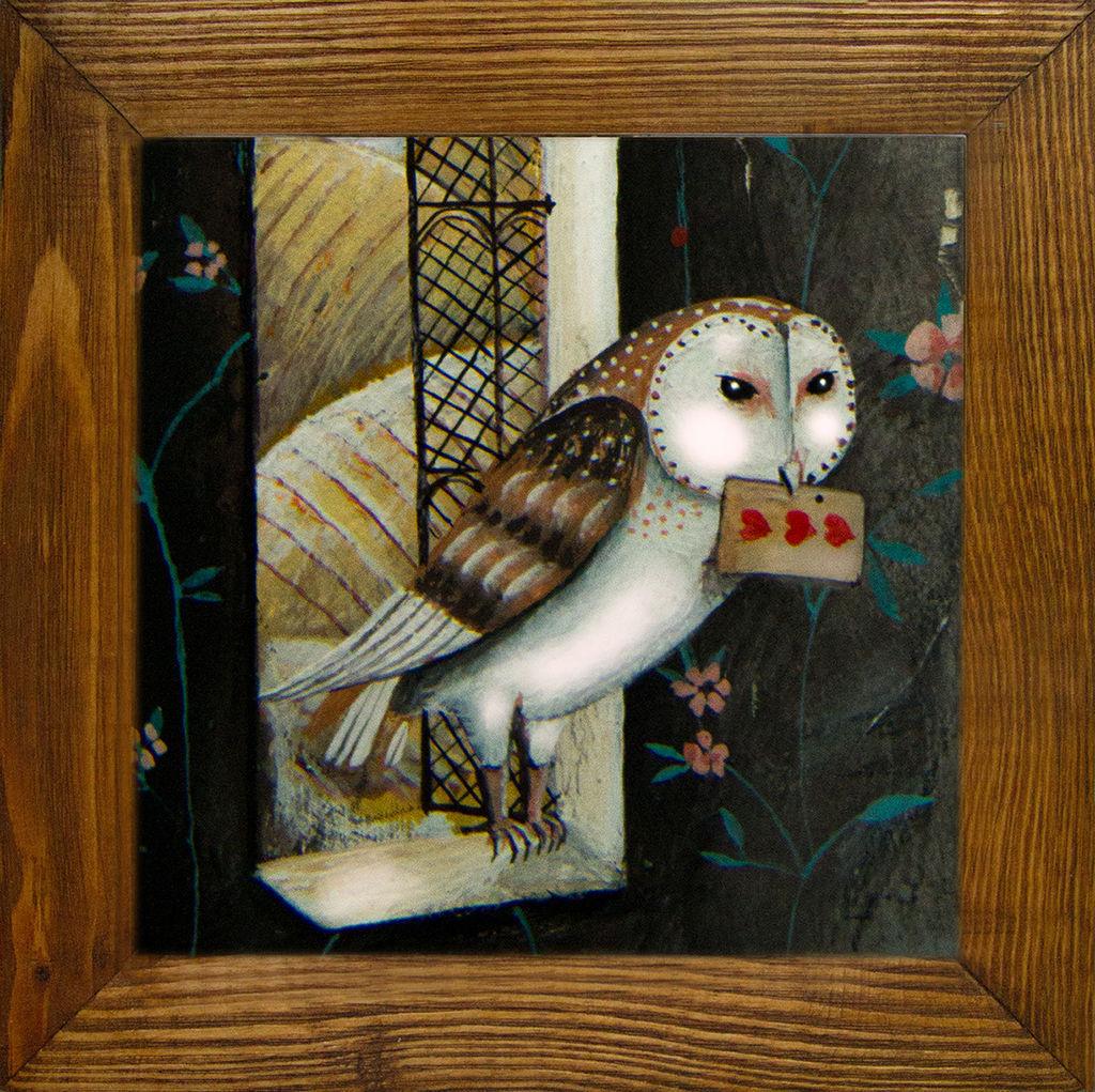 Сова знает. Авторская печать на керамике, Картины, Петрозаводск,  Фото №1