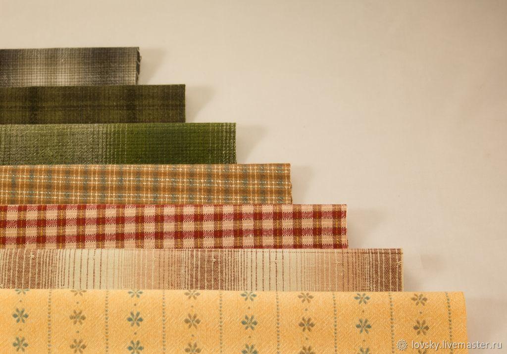 Japanese textured cotton (set №35), Fabric, Naro-Fominsk,  Фото №1