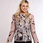 """Одежда ручной работы. Ярмарка Мастеров - ручная работа Жакет серо-розовый """"Миндаль"""". Handmade."""
