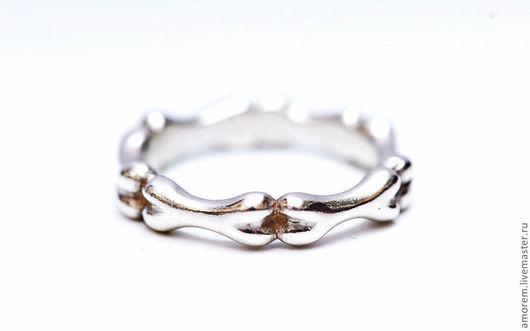 Кольца ручной работы. Ярмарка Мастеров - ручная работа. Купить кольцо Вечность. Handmade. Кости, символизм, серебро 925 пробы