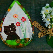 """Для дома и интерьера ручной работы. Ярмарка Мастеров - ручная работа прихватка """"котик"""". Handmade."""