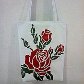 """Классическая сумка ручной работы. Ярмарка Мастеров - ручная работа Сумка """"Алые розы"""". Handmade."""