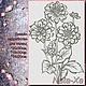 2 dahlias (large composition), Patterns for embroidery, Solikamsk,  Фото №1