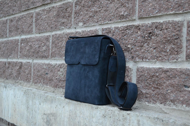 Сумка замшевая с клапаном, Классическая сумка, Санкт-Петербург,  Фото №1