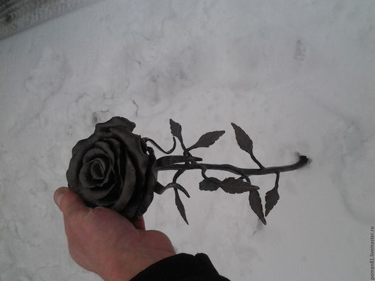 Экстерьер и дача ручной работы. Ярмарка Мастеров - ручная работа. Купить Кованая роза. Handmade. Кованая, цветок, подарок