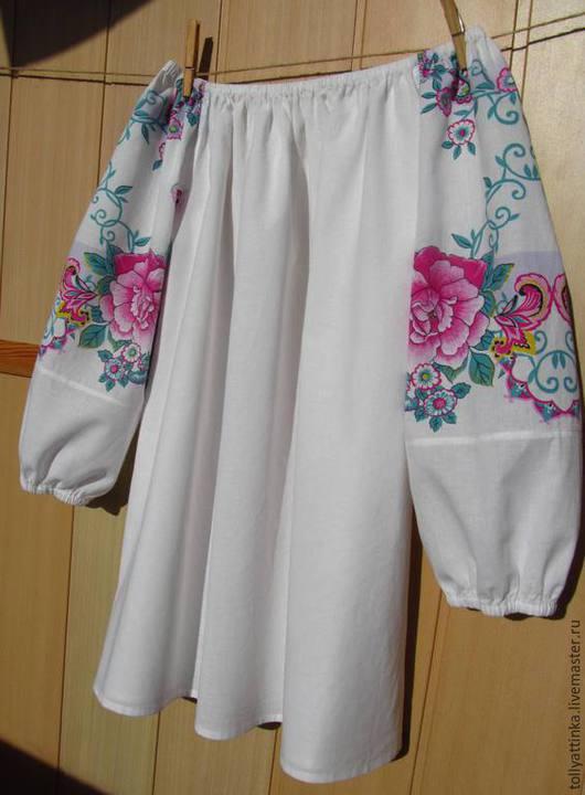 Одежда ручной работы. Ярмарка Мастеров - ручная работа. Купить Блуза в фольклорном стиле. Handmade. Белый, фольклорный стиль