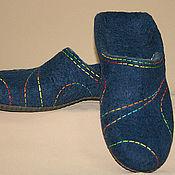Обувь ручной работы handmade. Livemaster - original item Men`s felted Slippers Color geometry-2. Handmade.